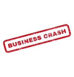 Business Crash Rubber Stamp vector image