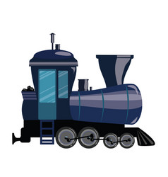 cartoon train a railway vector image