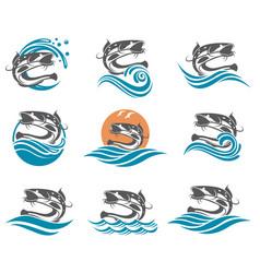 Catfish set vector