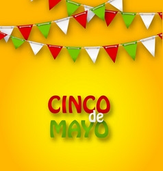 Cinco de mayo holiday bunting background vector