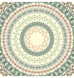 circle vintage pattern vector image