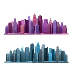 City icon Business and tourism concept with vector image