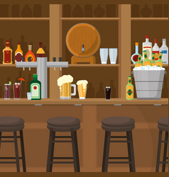 Drinks inside bar vector