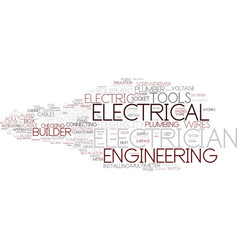 Electrician word cloud concept vector