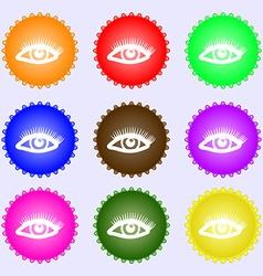 eyelashes icon sign Big set of colorful diverse vector image