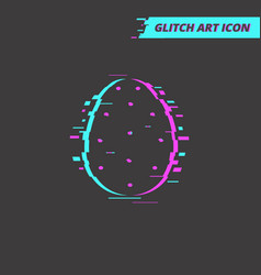 flat easter egg glitch idea isolated icon vector image