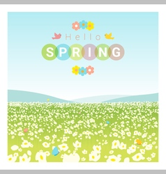 Hello spring landscape background vector image vector image