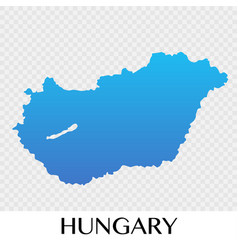 hungary map in europe continent design vector image