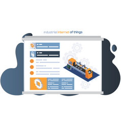 Industrial internet things web page design vector