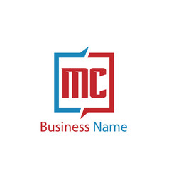 Initial letter mc logo template design vector