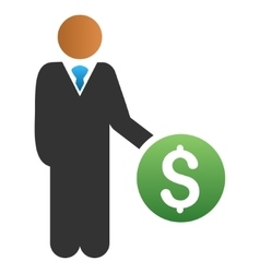 Investor Gradient Icon vector image
