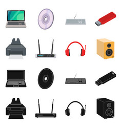 isolated object of laptop and device symbol vector image