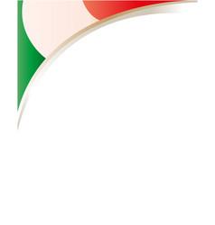 Italian flag frame corner vector