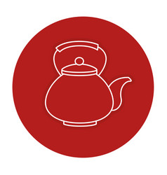 Japanese teapot isolated icon vector
