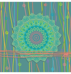 Khokhloma Floral Pattern vector image