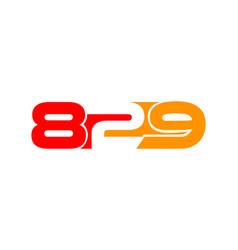 letter 829 logo icon design template elements vector image