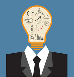 lightbulb idea concept vector image vector image