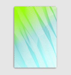 line art minimalistic modern brochure design vector image