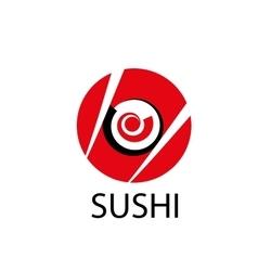 logo sushi vector image