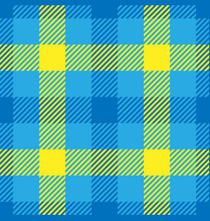 Lumberjack plaid pattern in yellow and blue vector