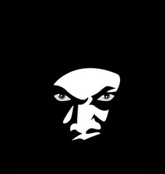 man face lurking in the dark vector image
