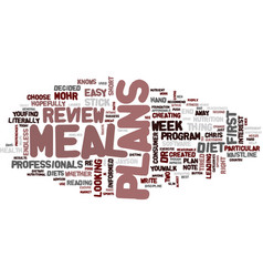 Meal plans review good or bad text background vector