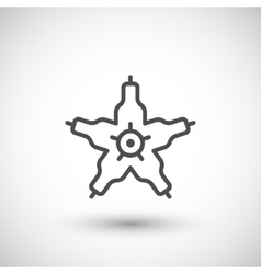 Microbe line icon vector