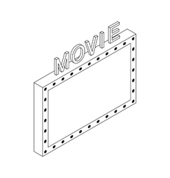 Movie icon isometric 3d style vector image