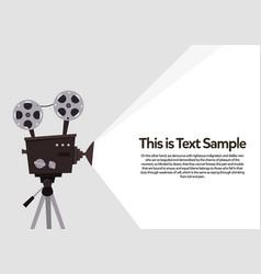 movie projection retro cinema flyer vector image