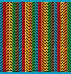 multicolored vertical striped with zigzag elements vector image
