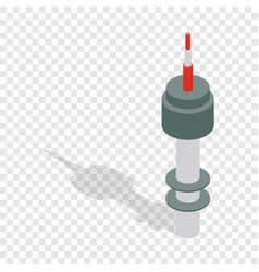 Namsan tower in seoul isometric icon vector