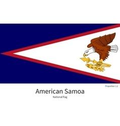National flag of American Samoa with correct vector