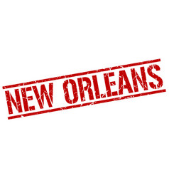 new orleans red square stamp vector image