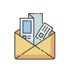 newsletters and brochures rgb color icon vector image