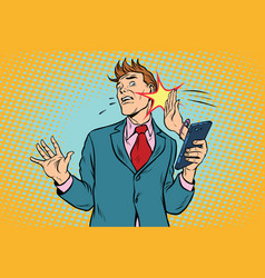 Online slap the relationship of men and women vector