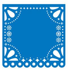 Papel picado square template design vector