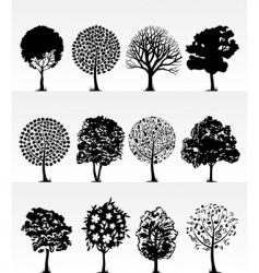park trees2 vector image
