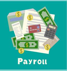 Payroll invoice sheet flat payroll vector