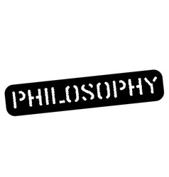 Philosophy black stamp vector