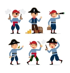 Pirate child boy vector image