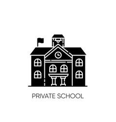 Private school black glyph icon vector