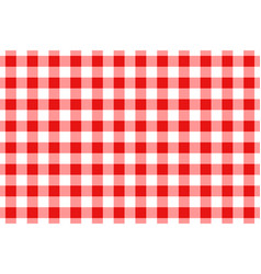 Red and white gingham tablecloth seamless pattern vector