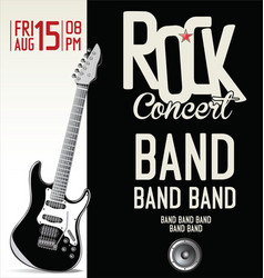 rock concert background vector image