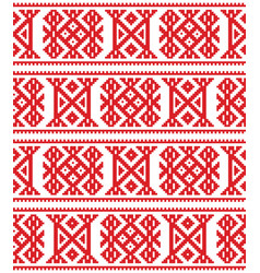 Sami seamless design lapland cross-stitch vector