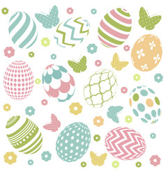Seamless background for happy easter day vector