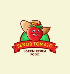 senor tomato abstract sign symbol or logo vector image