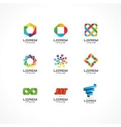 Set icon design elements vector