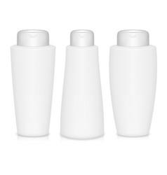 Shampoo bottles vector image