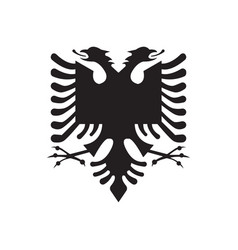 Simple coat arms albania is isolated vector