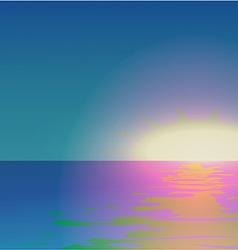 Sunset over the sea vector image